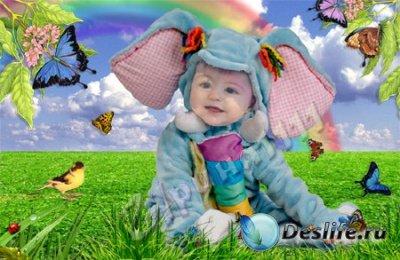 Детский костюм для фотошопа - Слонёнок