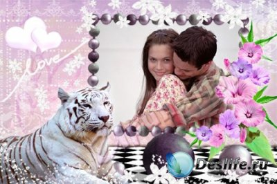 Рамка для фотошопа - С тигром