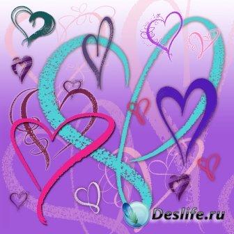 Кисти для фотошопа - Heart Free
