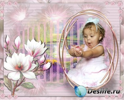 Рамка для фото с малышкой