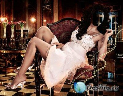 Женский костюм для фотошопа - Волшебный вечер