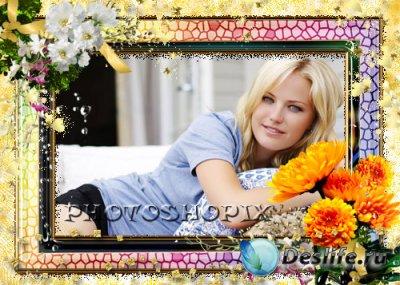 Рамка для фотошопа – Игра цветов