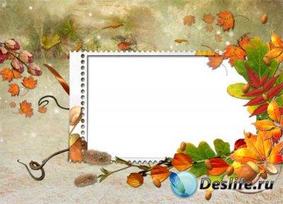 Рамка для фотошопа - Причуды осени