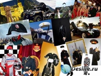 Набор Мужских костюмов в PSD формате