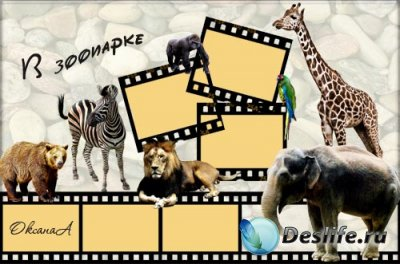 Рамка для фотошопа – Зоопарк