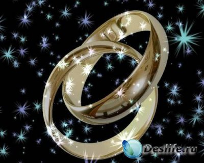 Свадебный футажик - Обручальные колечки