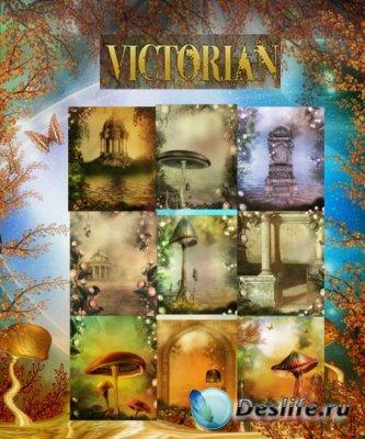 Фоны для фотошопа - Victorian by Makena / Грибной мир