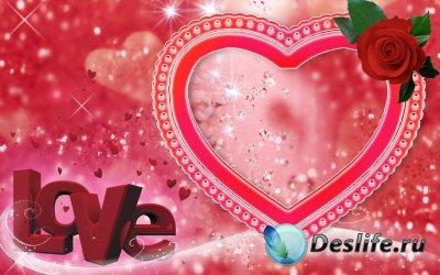 Рамка для фотошопа - Любовь (Love)