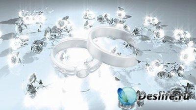 Свадебный футаж - Кольца и розы