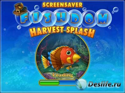 Free Fishdom: Harvest Splash Screensaver 1.0