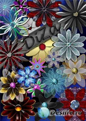 Роскошные цветочки в png для оформления рамочек, фото и коллажей