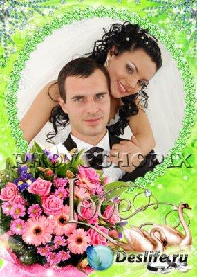 Свадебная рамка для фотошопа – Вместе навсегда