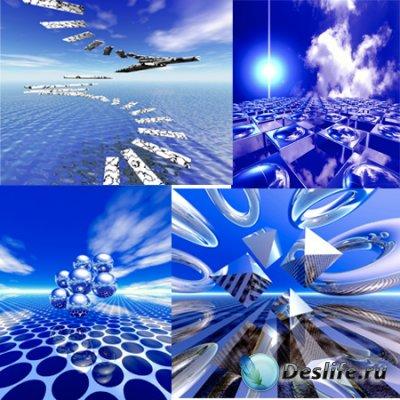 Растpовый клипаpт - 3D ландшафты