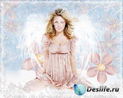 Женский костюм для фотошопа - Милый ангел