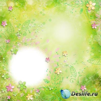 Рамка для фотошопа  - Яркие цвета лета