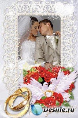 Свадебная рамка для фотошопа - Совет да любовь!