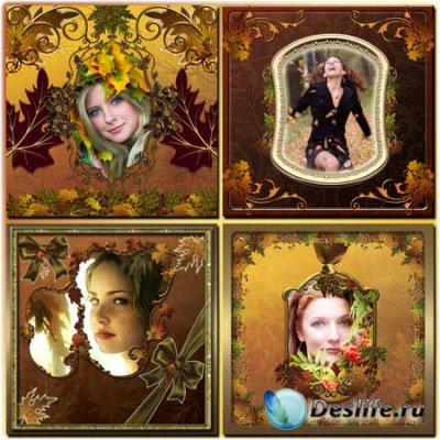 Рамки для фотошопа - Осенний блюз