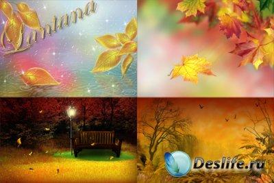PSD фоны для фотошопа - Листопад