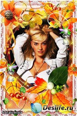 Рамка для фотошопа – Осенний коктейль