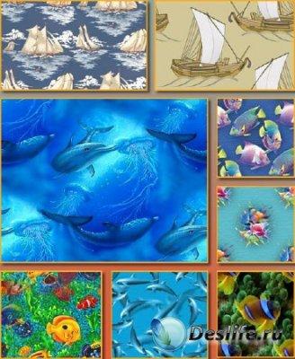 Морские рыбки - Фоны для фотошопа