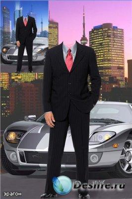 Мужской костюм для фотошопа – Мегаполис