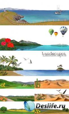 PSD исходники для фотошопа - Landscapes / Ландшафты