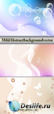 Векторный фоны - Mild Abstract background vector