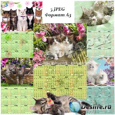 Календари для фотошопа на 2011 г. – Год кота (Кролика)