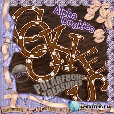 Клипарт - Алфавит из печенья
