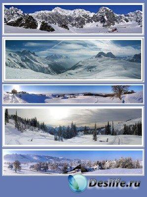 Обои для рабочего стола - Панорамы (подборка №1 - зимний пейзаж)