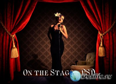 PSD исходник для фотошопа - On the Stage