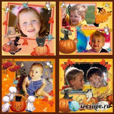 Детские рамочки для фотошопа - Хеллоуин - вторая часть
