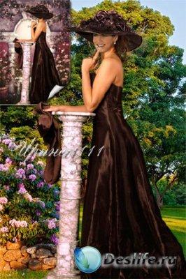 Женский костюм для фотошопа - Вечер в саду