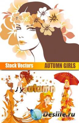 Векторный клипарт - Осенние Девушки (Autumn Girls)