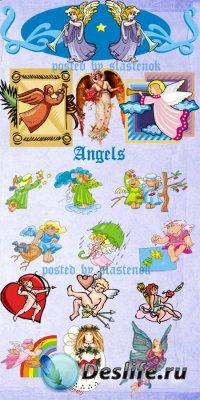 Сборник клипарта для фотошопа - Ангелочки