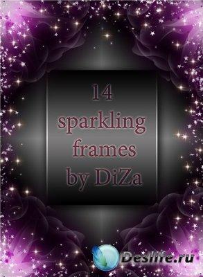 Скрап-рамки для фотошопа - Sparkling frames