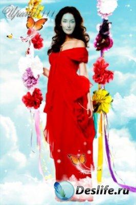 Женский костюм для фотошопа - Небесные качели