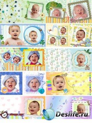 Рамки для фотошопа - Детский альбом