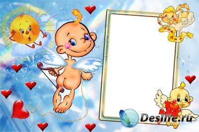 Рамочка с ангелочками для фотошопа