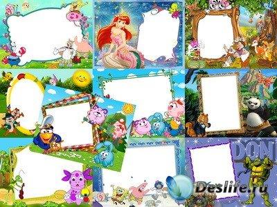 Набор Детских Рамок для фото в PSD