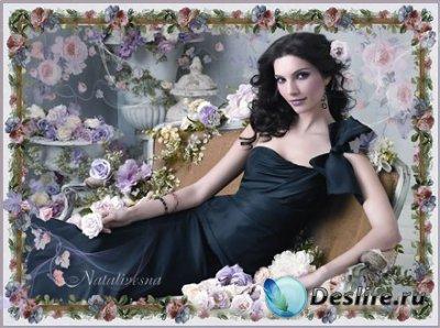 Женский костюм для фотошопа – В Цветах