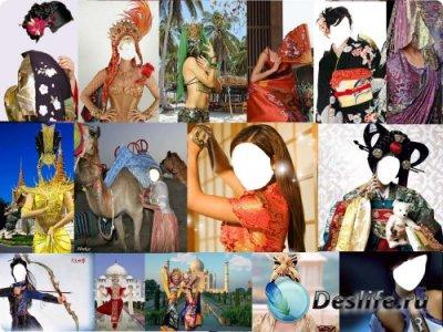 Костюмы для фотошопа - Восточные красавицы