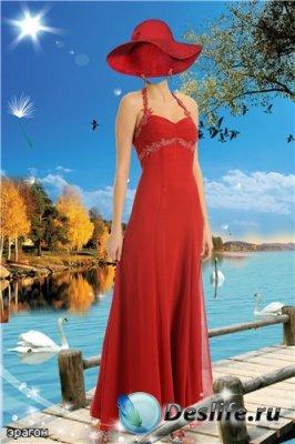 Женский костюм для фотошопа – Осенняя пора