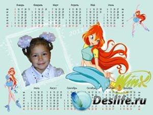 Календарь Winx с Bloom на 2011 год