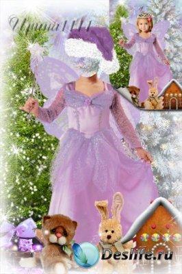 Детский костюм для фотошопа - Новогодняя фея