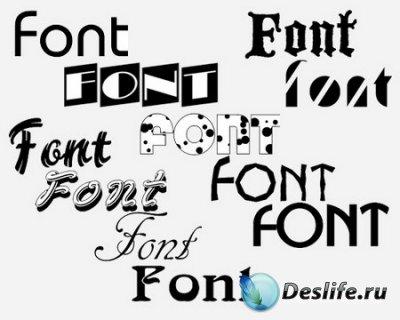 Шрифты для Фотошопа - Western fonts