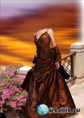 Костюм для фотошопа - Дама в платье