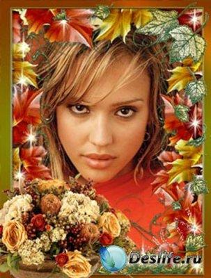 Рамочка для фотошопа - Осенняя