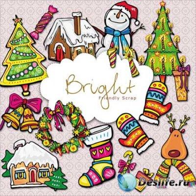 Новогодний клипарт - Рождественские огни