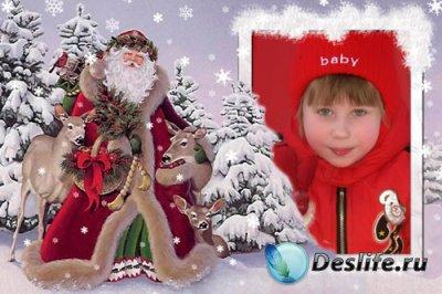 Рамка для фотошопа - С Дедом Морозом